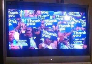 Obama TY signs - DNC 7-28-2016